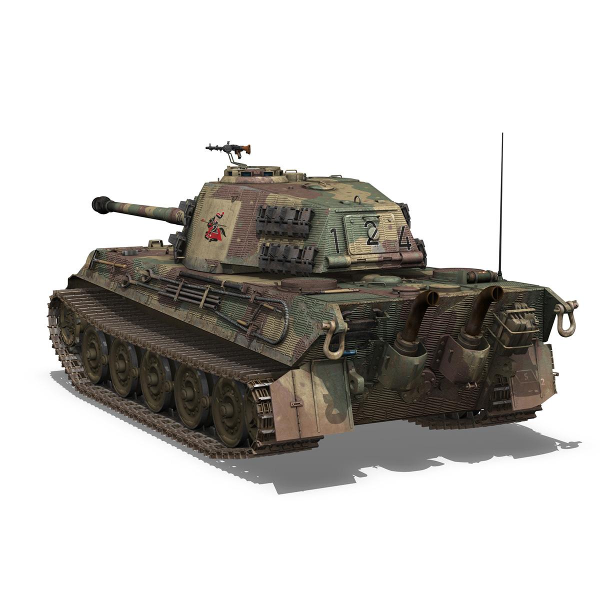 Panzerkampfwagen VI - Ausf B - Tiger II - 124 3d model 3ds c4d lwo lws lw obj 273757