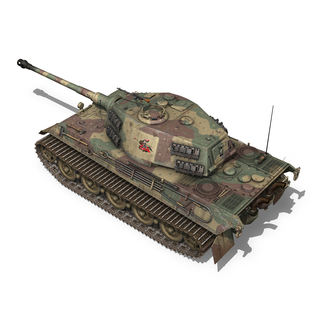 Panzerkampfwagen VI - Ausf B - Tiger II - 124 3d model 3ds c4d lwo lws lw obj 273758