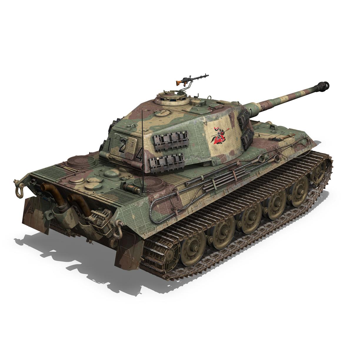 Panzerkampfwagen VI - Ausf B - Tiger II - 124 3d model 3ds c4d lwo lws lw obj 273759