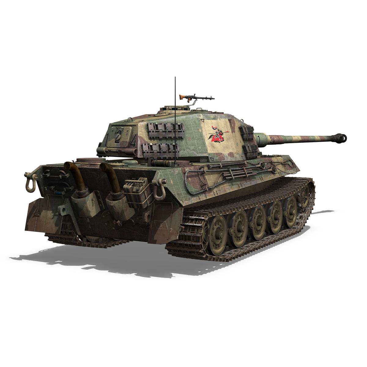 Panzerkampfwagen VI - Ausf B - Tiger II - 124 3d model 3ds c4d lwo lws lw obj 273760