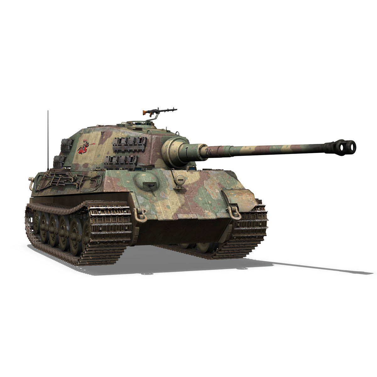 Panzerkampfwagen VI - Ausf B - Tiger II - 124 3d model 3ds c4d lwo lws lw obj 273761