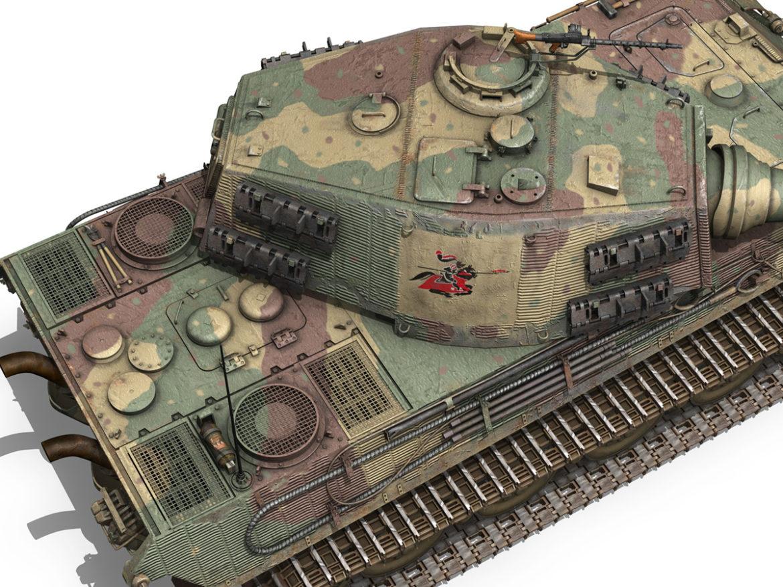 Panzerkampfwagen VI - Ausf B - Tiger II - 124 3d model 0