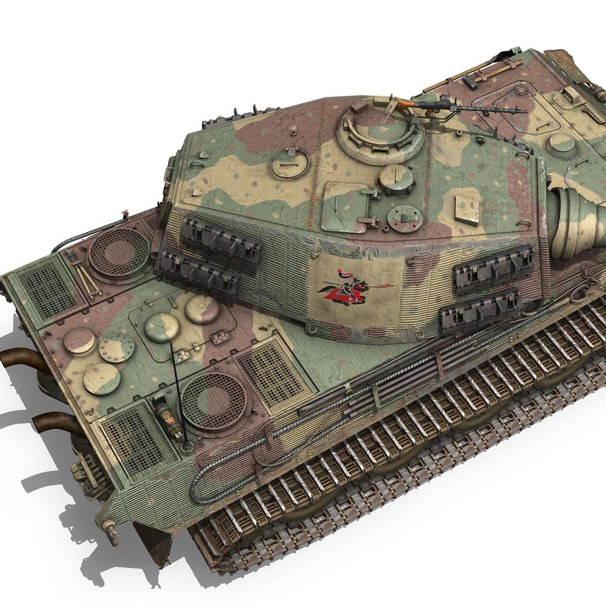 Panzerkampfwagen VI - Ausf B - Tiger II - 124 3d model 3ds c4d lwo lws lw obj 273762