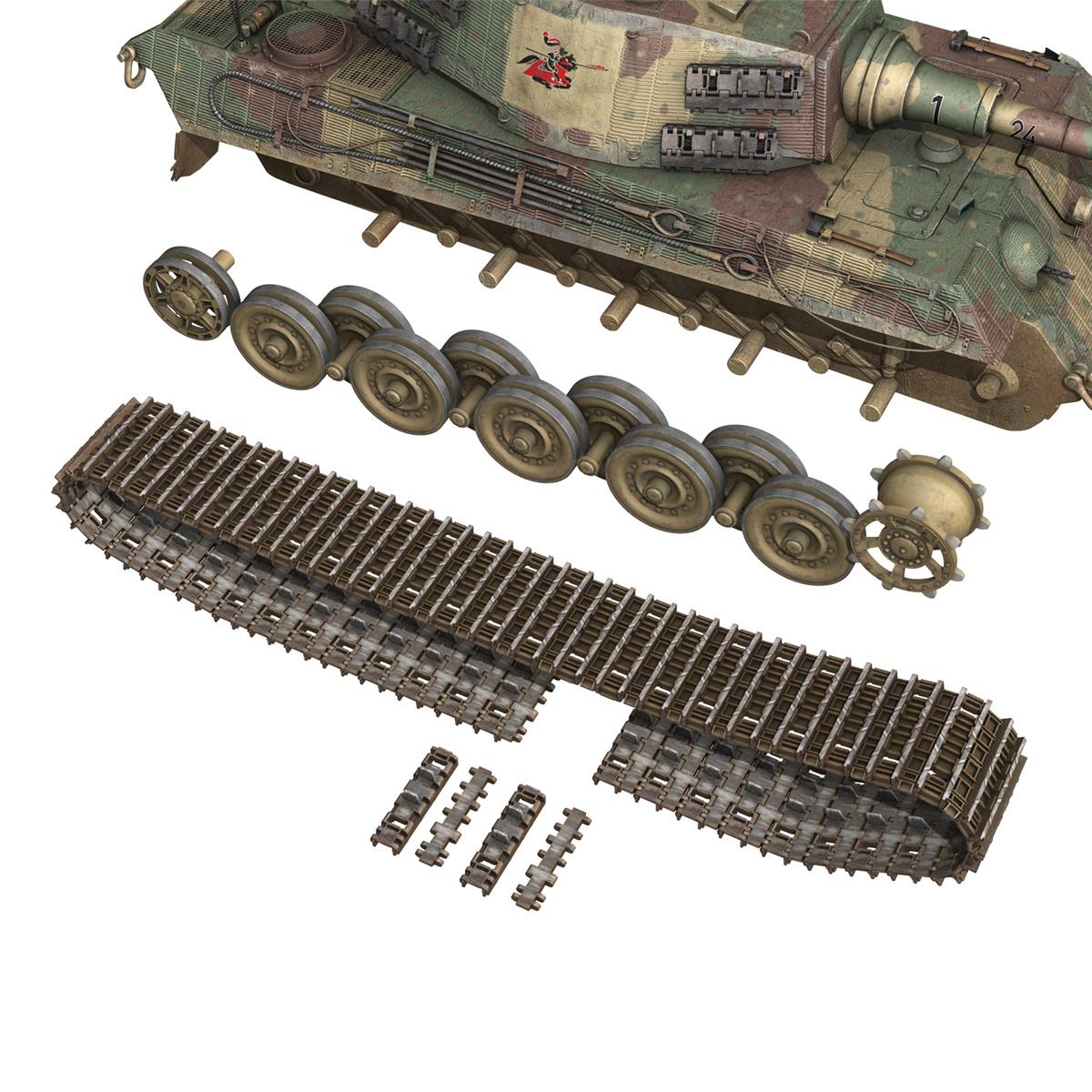 Panzerkampfwagen VI - Ausf B - Tiger II - 124 3d model 3ds c4d lwo lws lw obj 273763