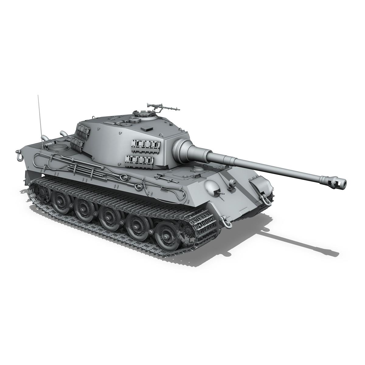Panzerkampfwagen VI - Ausf B - Tiger II - 124 3d model 3ds c4d lwo lws lw obj 273764