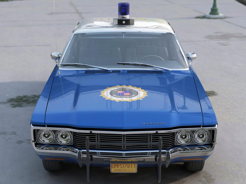 amc matador rendőrség 1972 3d modell 3ds max fbx c4d obj 273770