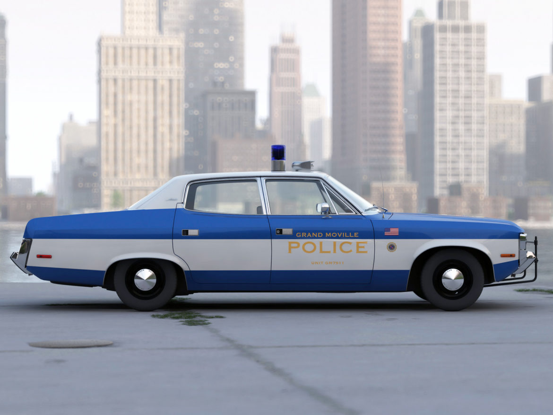 amc matador rendőrség 1972 3d modell 3ds max fbx c4d obj 273771