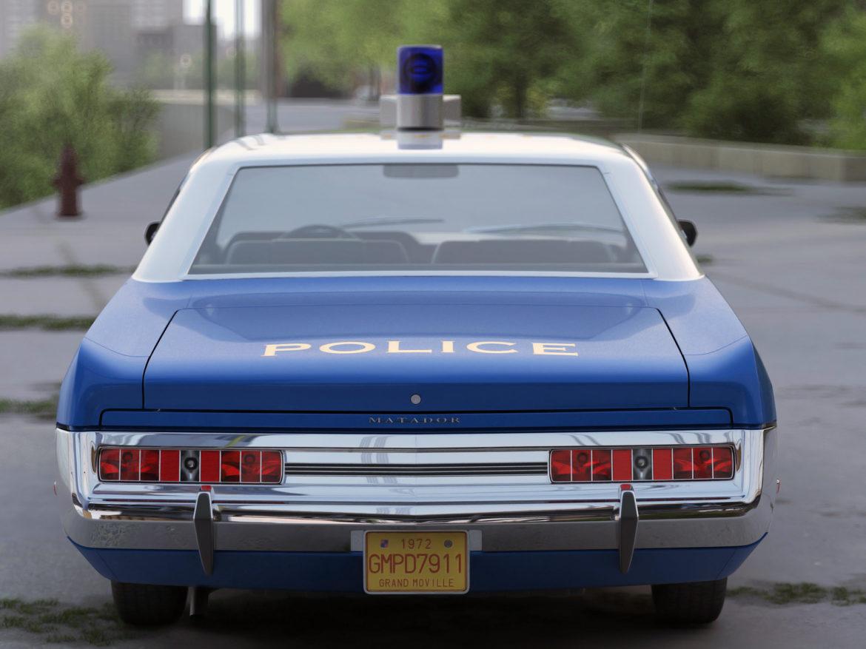 amc matador rendőrség 1972 3d modell 3ds max fbx c4d obj 273772