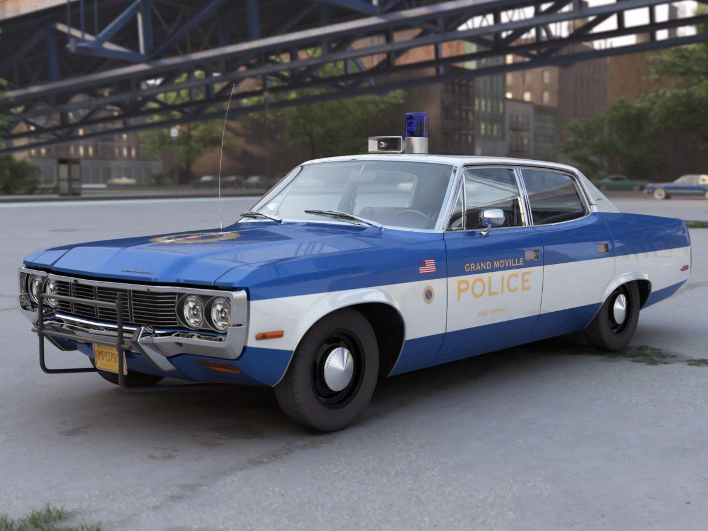 amc matador rendőrség 1972 3d modell 3ds max fbx c4d obj 273773
