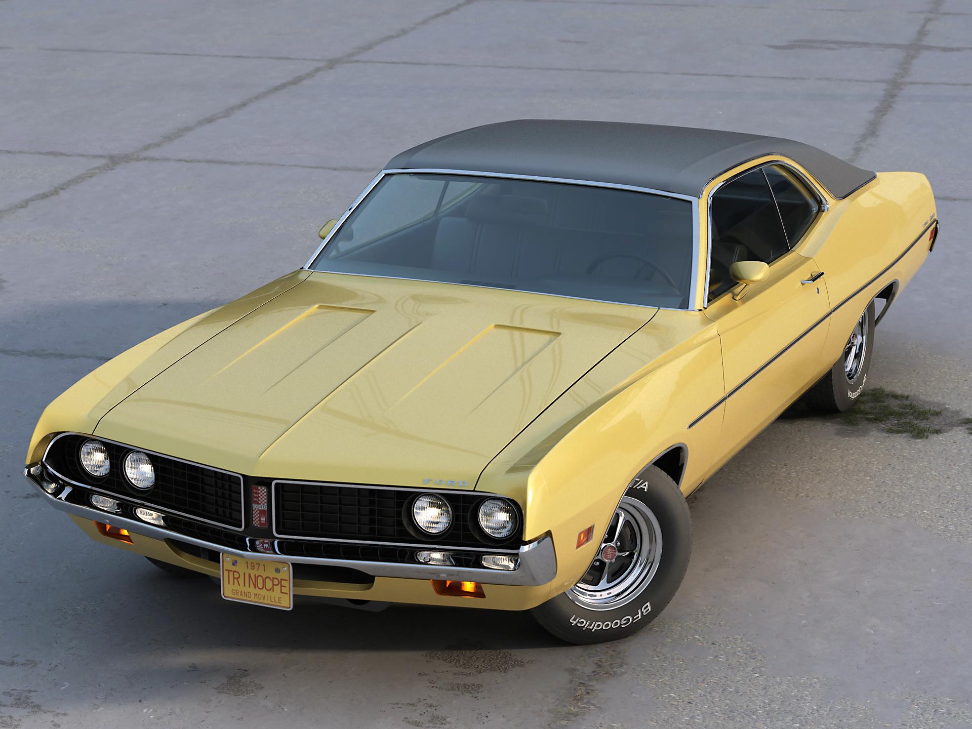 Torino Coupe 1971 3d model max fbx c4d obj 273811