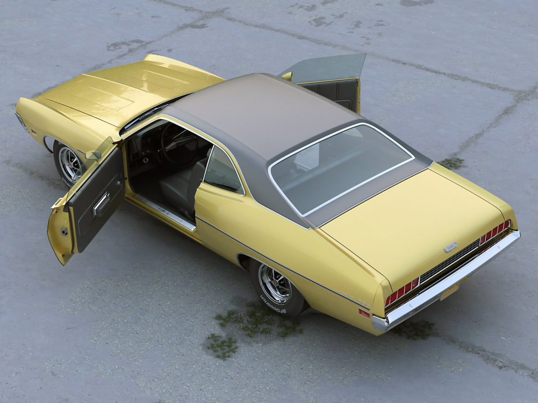 torino coupe 1971 3d model max fbx c4d obj 273817