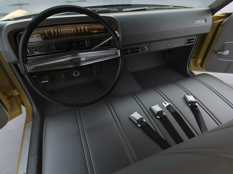 Torino Coupe 1971 3d model 0