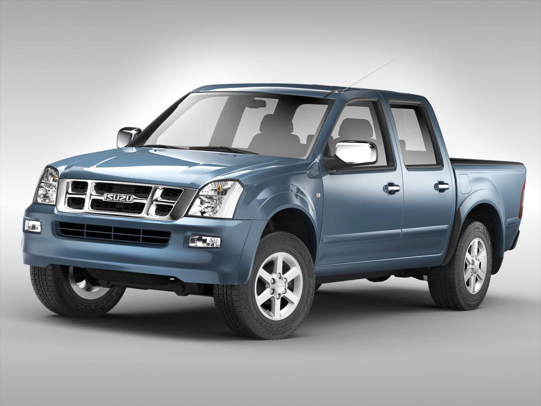 isuzu d-max crew cab (2004 – 2011) 3d model 3ds max fbx c4d ma mb obj 273865