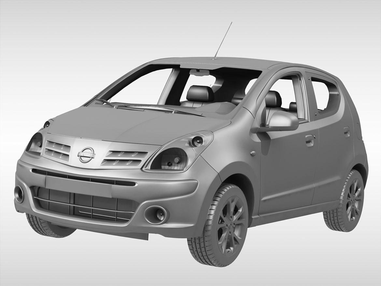 nissan pixo (2009) 3d model 3ds max fbx c4d ma mb obj 273892