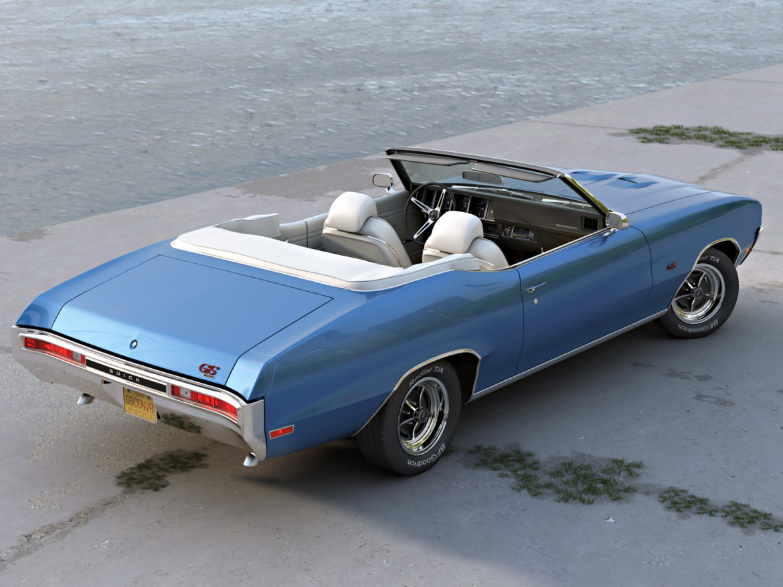 gs convertible 1970 3d model 3ds max fbx c4d obj 273929