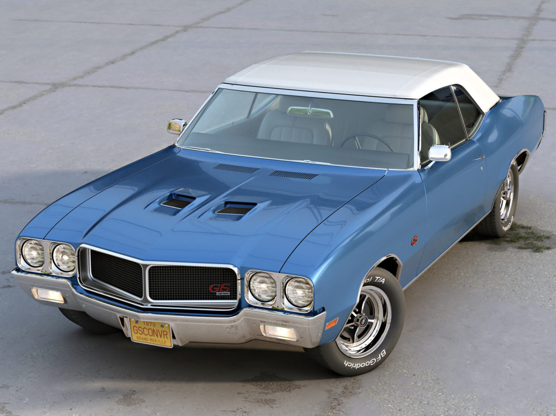gs convertible 1970 3d model 3ds max fbx c4d obj 273940