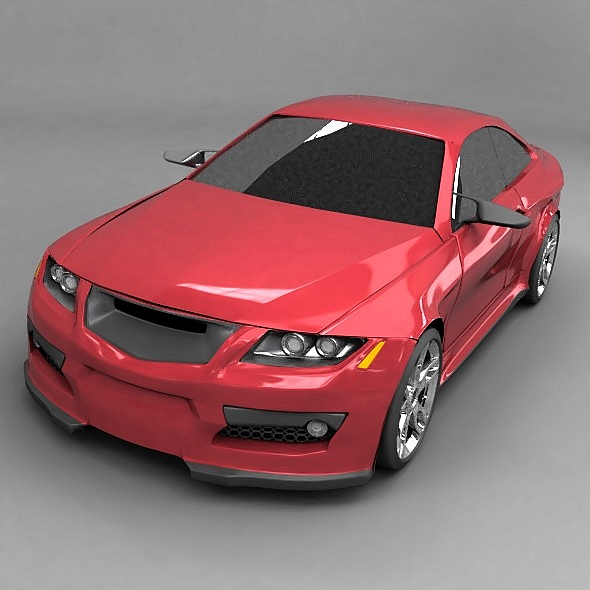 generic racing car concept 3d model 3ds fbx blend dae lwo obj 273959