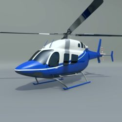 Bell 429 civil helicopter 3d model 0