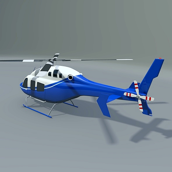 zvono 429 civilni helikopter 3d model 3ds fbx blend dae lwo obj 273984