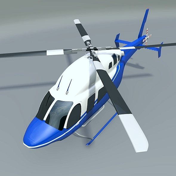zvono 429 civilni helikopter 3d model 3ds fbx blend dae lwo obj 273985