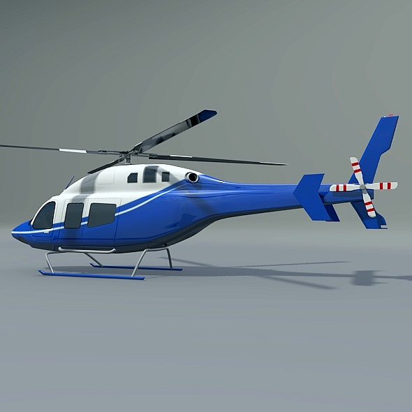 zvono 429 civilni helikopter 3d model 3ds fbx blend dae lwo obj 273988