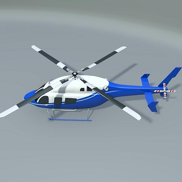 Bell 429 civil helicopter 3d model 3ds fbx blend dae lwo lws lw obj