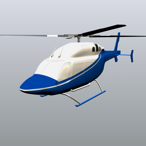 zvono 429 civilni helikopter 3d model 3ds fbx blend dae lwo obj 273990