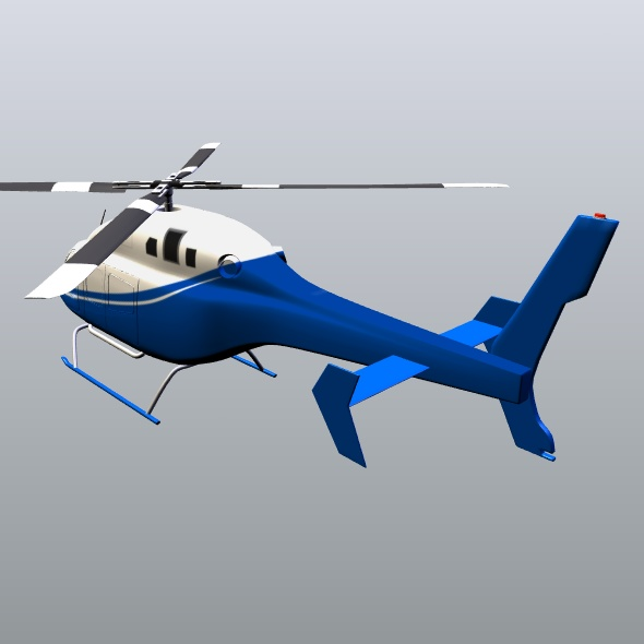 zvono 429 civilni helikopter 3d model 3ds fbx blend dae lwo obj 273991