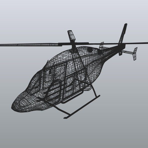 zvono 429 civilni helikopter 3d model 3ds fbx blend dae lwo obj 273992