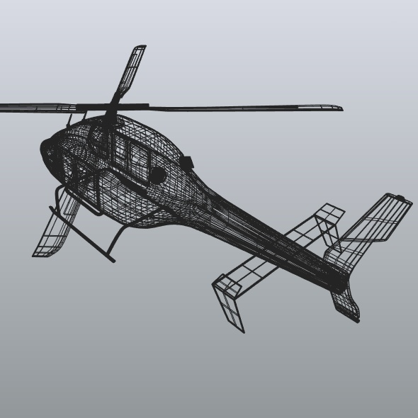 zvono 429 civilni helikopter 3d model 3ds fbx blend dae lwo obj 273993
