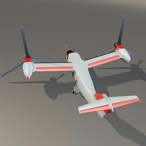 agustawestland aw-609 vtol lidmašīna 3d modelis 3ds fbx blend dae lwo obj 274003