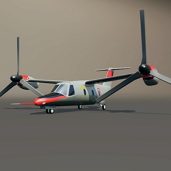 agustawestland aw-609 vtol aircraft 3d model 3ds fbx blend dae lwo obj 274004