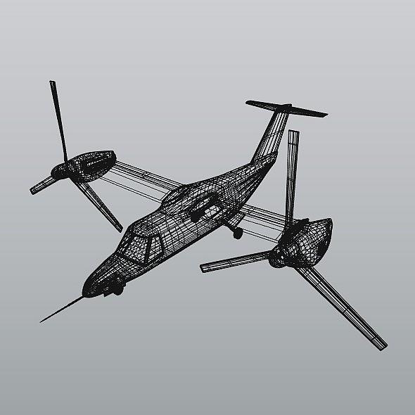 agustawestland aw-609 vtol lidmašīna 3d modelis 3ds fbx blend dae lwo obj 274009