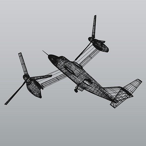 agustawestland aw-609 vtol lidmašīna 3d modelis 3ds fbx blend dae lwo obj 274010