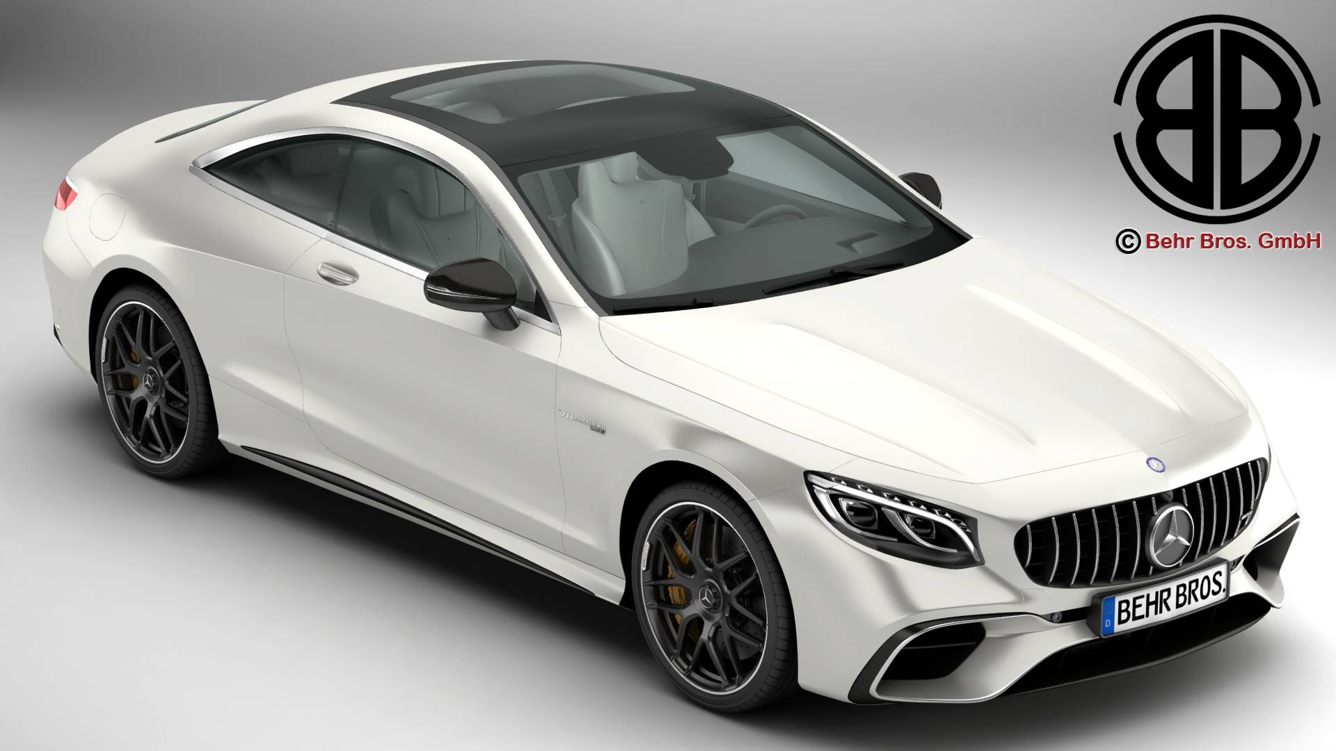 mercedes s coupe dosbarth amg s63 2018 model 3d 3ds max fbx c4d am fwy o wybodaeth 274090