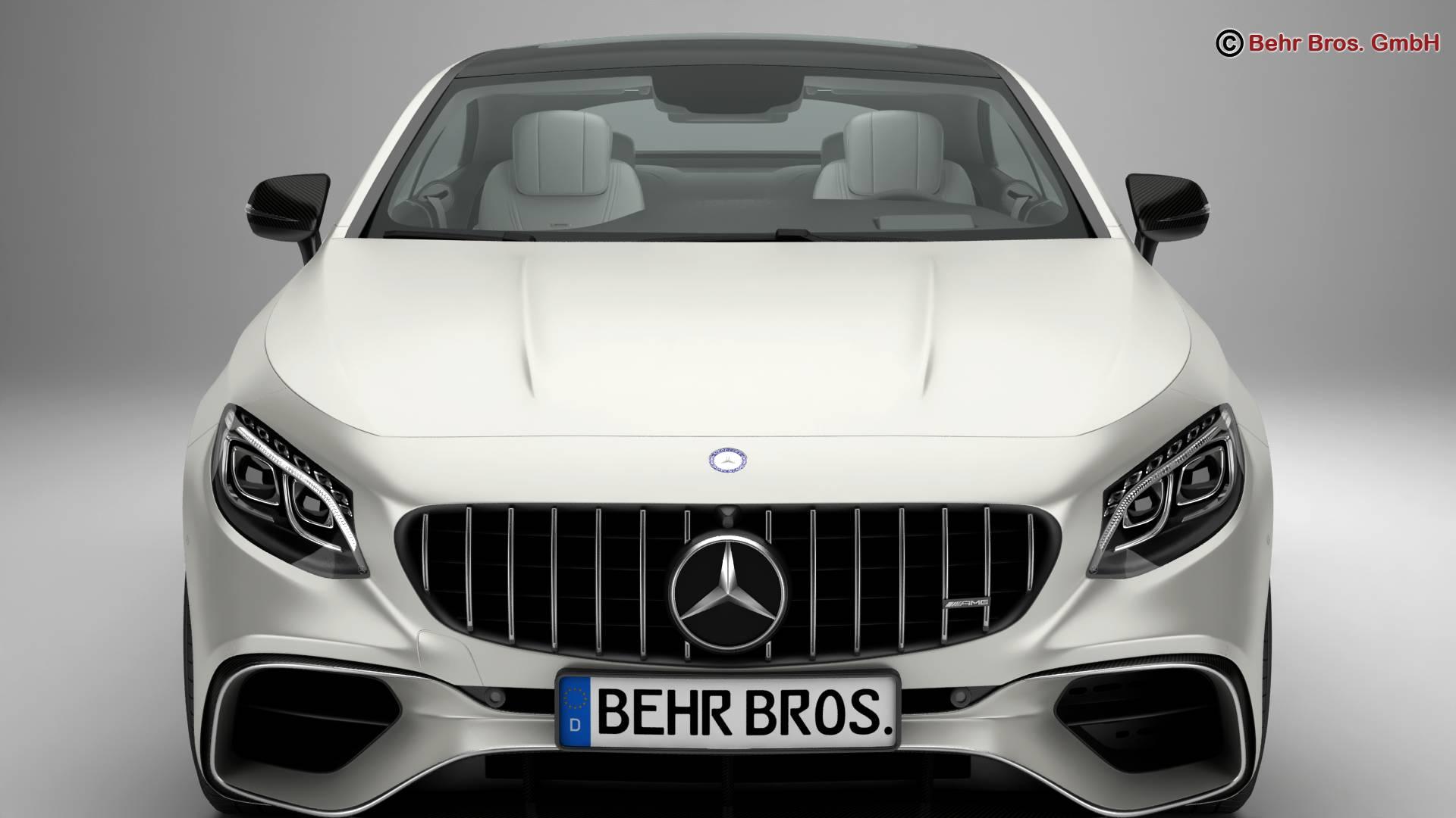 mercedes s class coupe amg s63 2018 3d model 3ds max fbx c4d lwo ma mb obj 274096