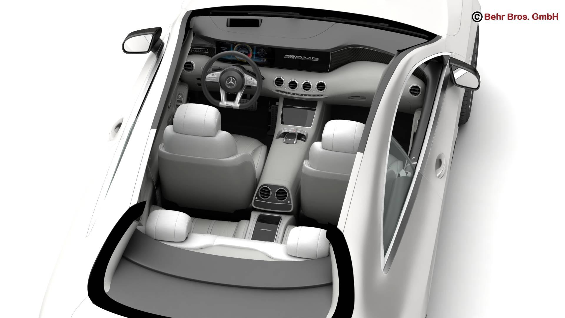 mercedes s class coupe amg s63 2018 3d model 3ds max fbx c4d lwo ma mb obj 274101