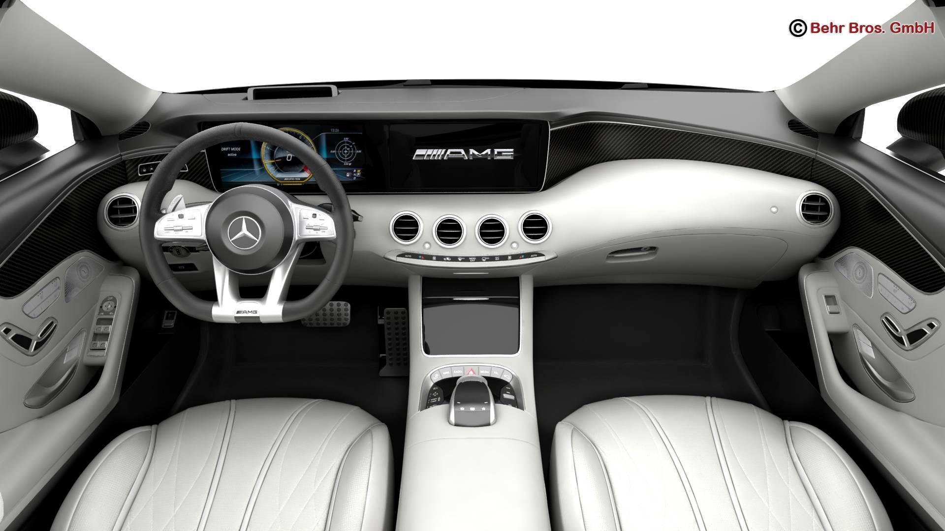mercedes s class coupe amg s63 2018 3d model 3ds max fbx c4d lwo ma mb obj 274102