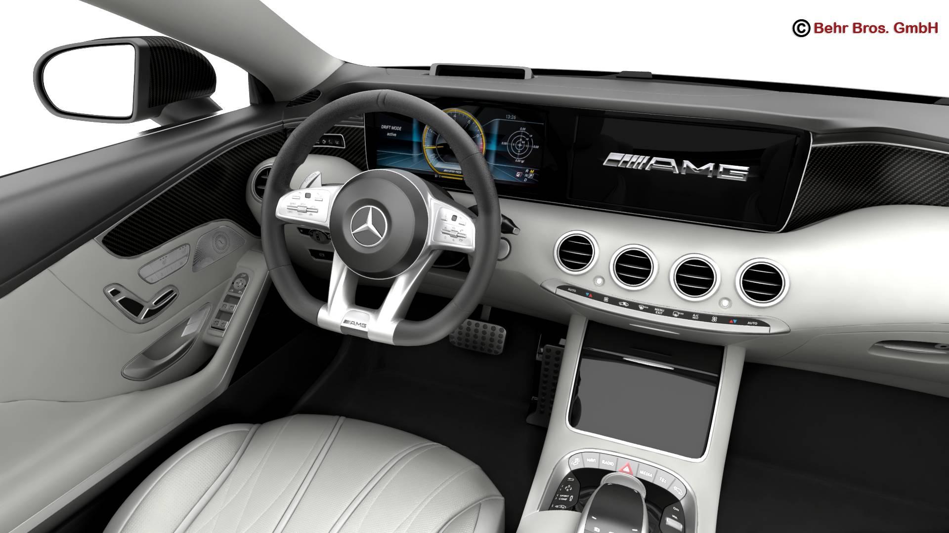 mercedes s class coupe amg s63 2018 3d model 3ds max fbx c4d lwo ma mb obj 274103
