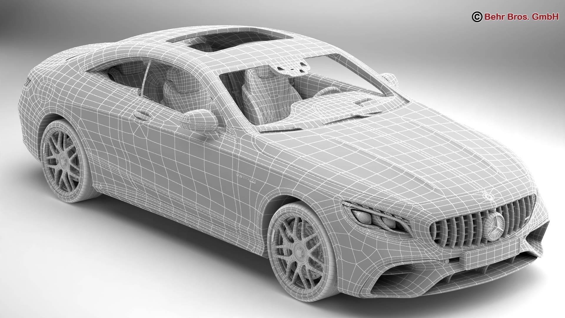 mercedes s class coupe amg s63 2018 3d model 3ds max fbx c4d lwo ma mb obj 274104