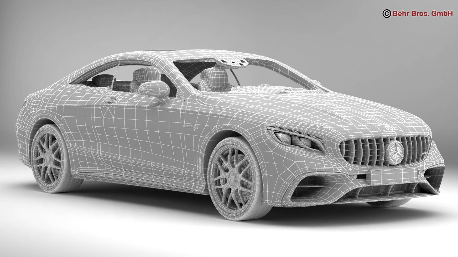 mercedes s class coupe amg s63 2018 3d model 3ds max fbx c4d lwo ma mb obj 274105