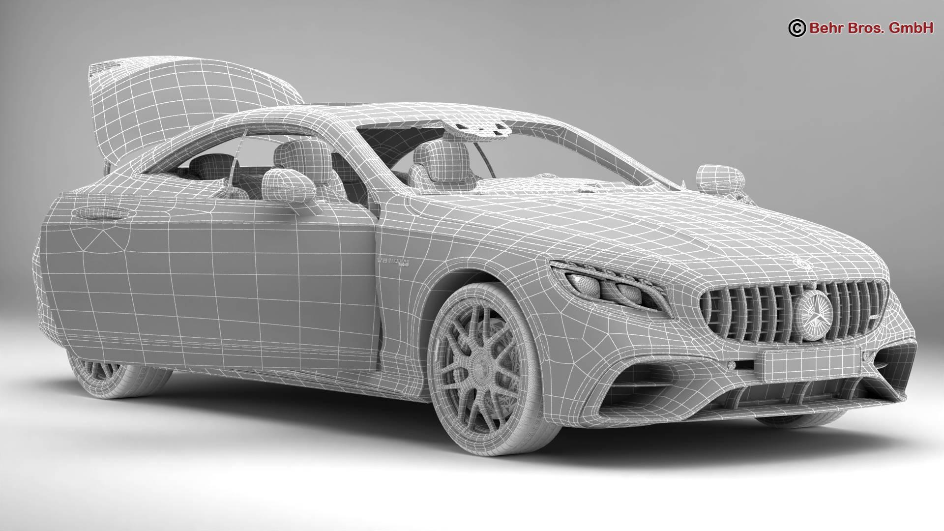 mercedes s class coupe amg s63 2018 3d model 3ds max fbx c4d lwo ma mb obj 274106
