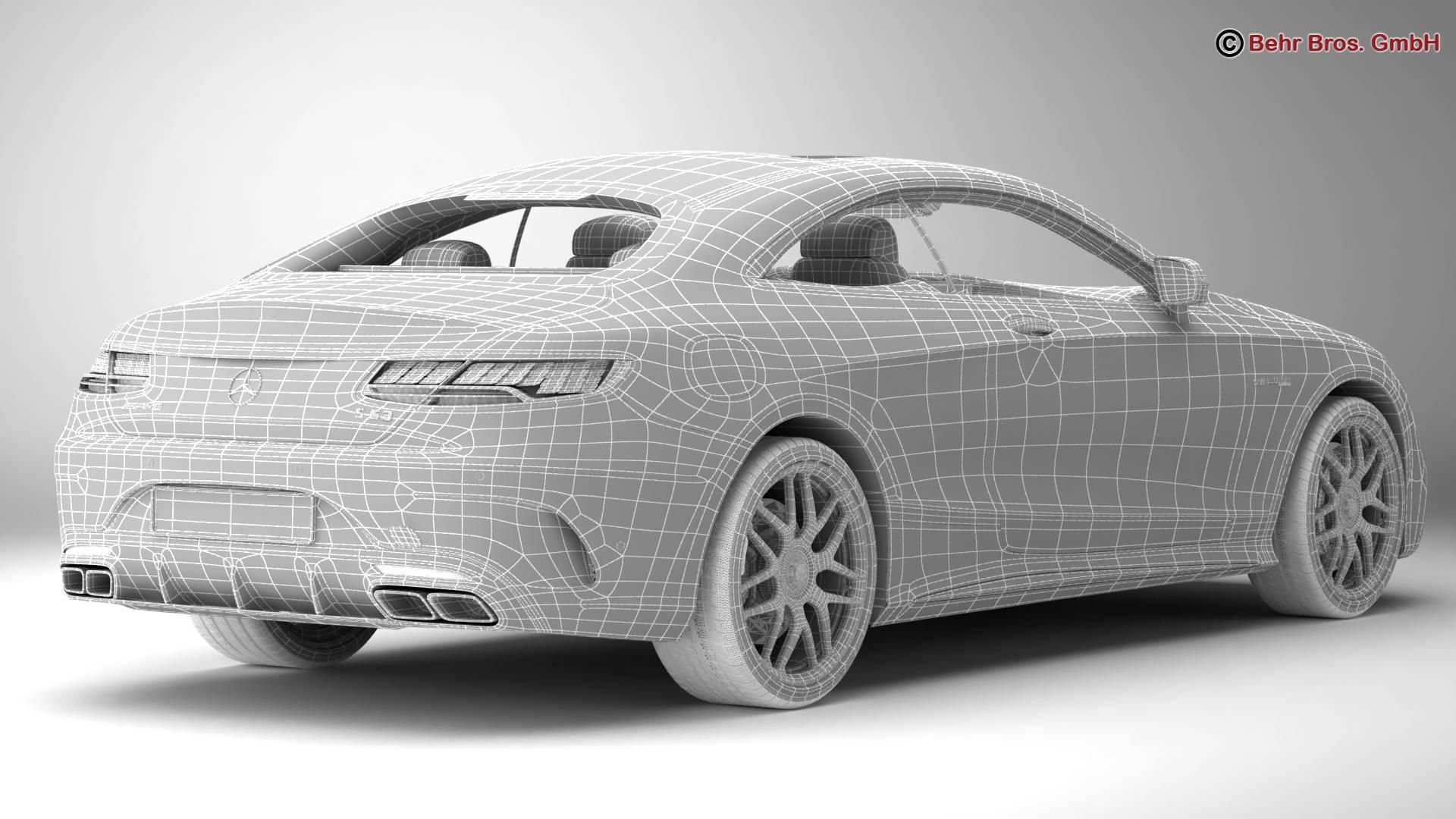 mercedes s class coupe amg s63 2018 3d model 3ds max fbx c4d lwo ma mb obj 274107