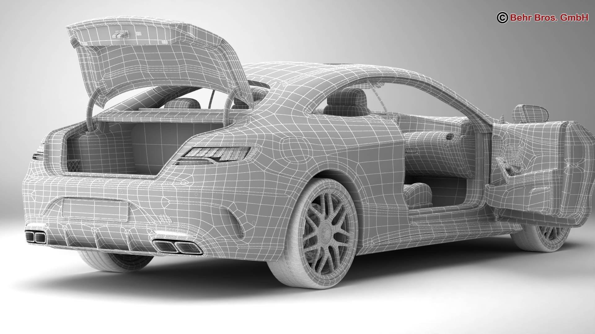 mercedes s class coupe amg s63 2018 3d model 3ds max fbx c4d lwo ma mb obj 274108