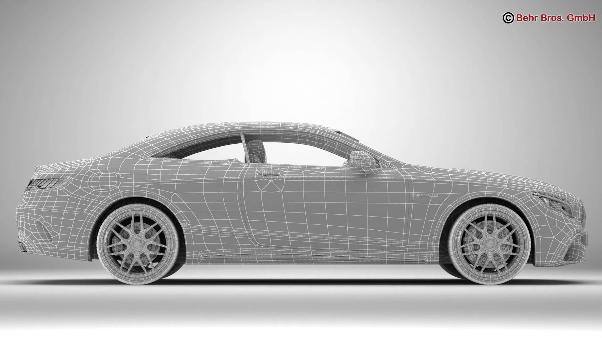 mercedes s class coupe amg s63 2018 3d model 3ds max fbx c4d lwo ma mb obj 274109
