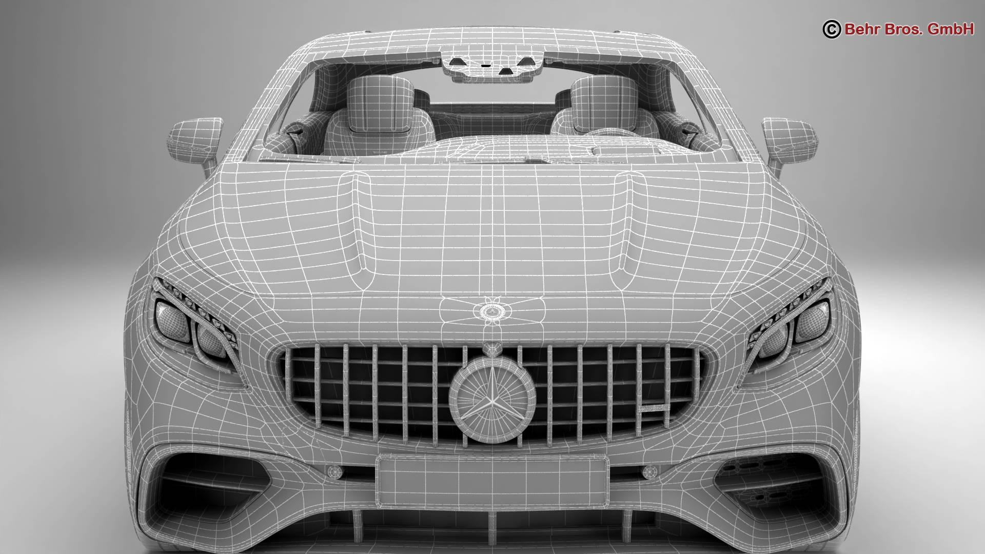 mercedes s class coupe amg s63 2018 3d model 3ds max fbx c4d lwo ma mb obj 274110
