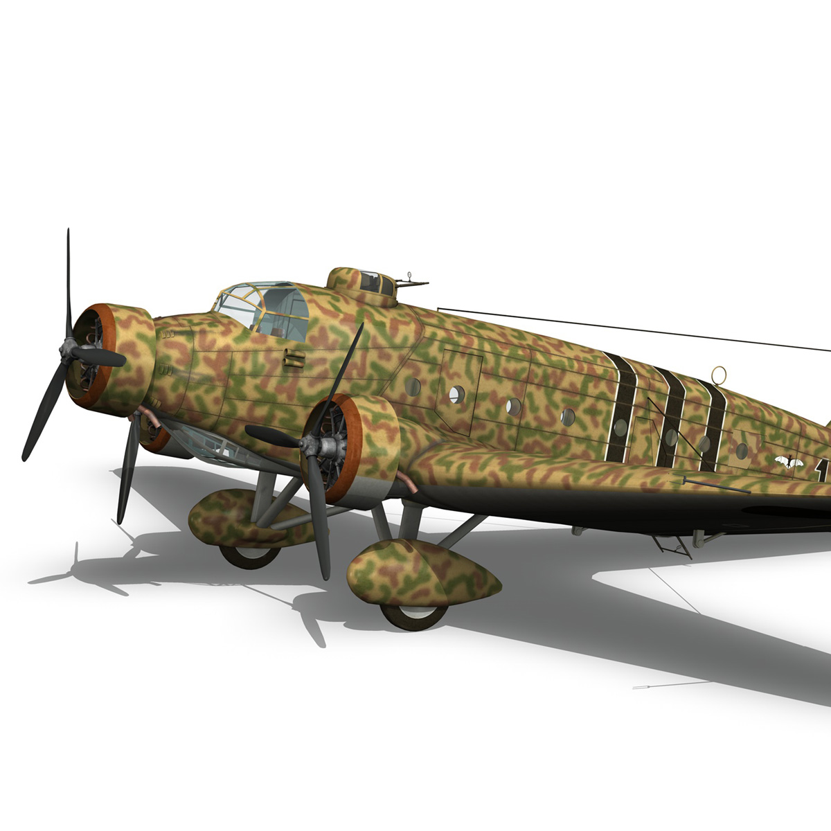 savoia-marchetti sm.81 – spanish civil war 3d model 3ds fbx c4d lwo obj 274152
