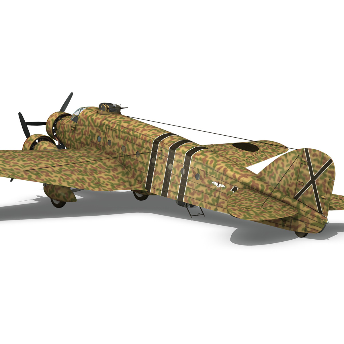 savoia-marchetti sm.81 – spanish civil war 3d model 3ds fbx c4d lwo obj 274153