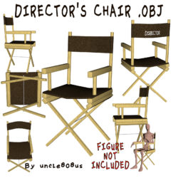 Director's Chair 3D Object 3d model render ready  obj