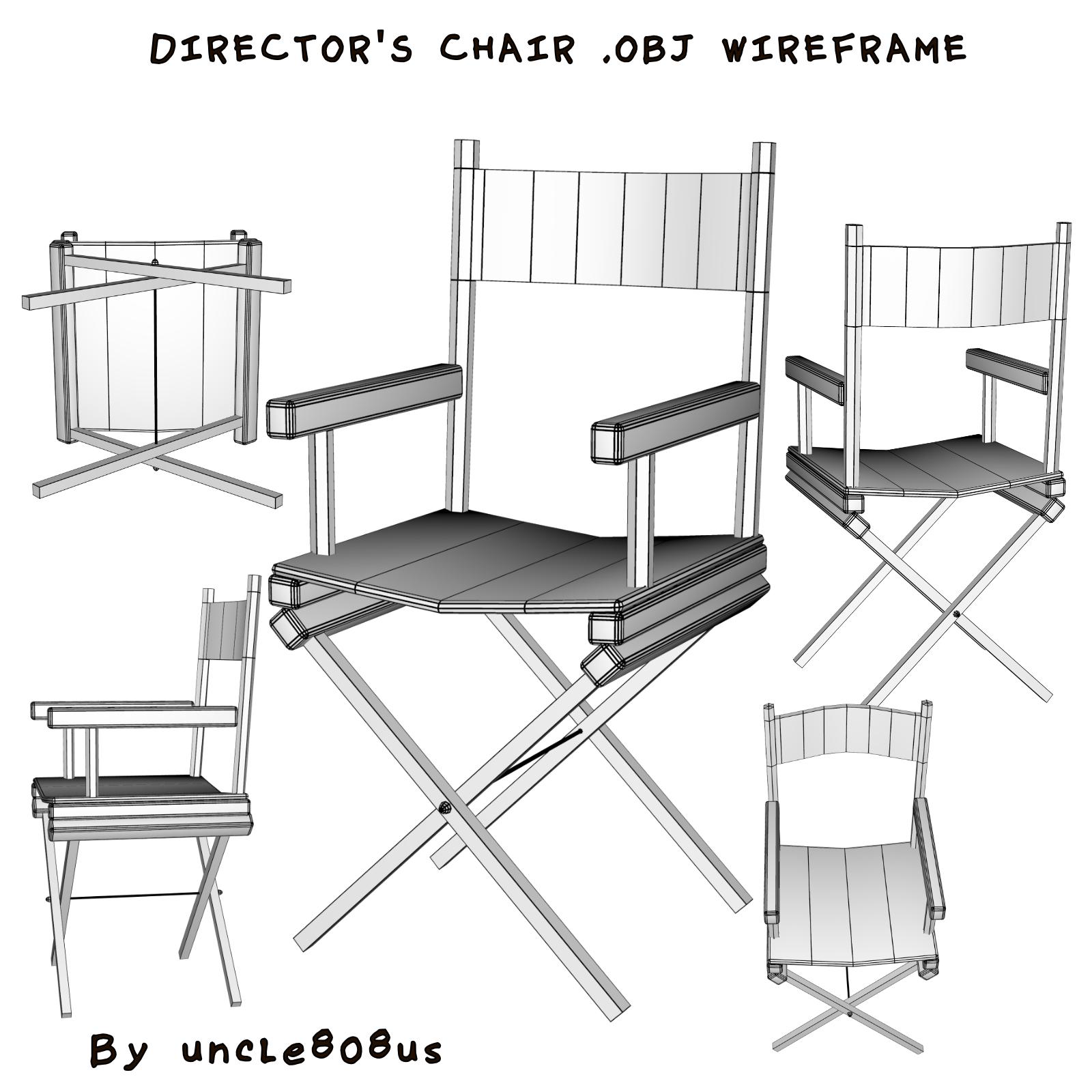 režisora krēsls 3d objekts 3d modelis cits obj 274164